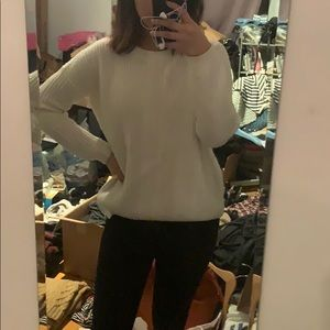 Forever 21 chunky knit white sweater small